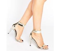HARLEE Sandalen mit hohem Absatz Gold