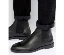 Marc Chelsea-Stiefel aus Leder in Schwarz Schwarz