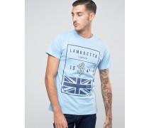 British Flag T-Shirt Blau