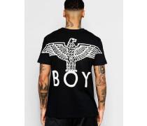 T-Shirt mit Rückenprint Schwarz