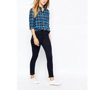 Fernham Superenge Jeans mit mittelhohem Bund Blau