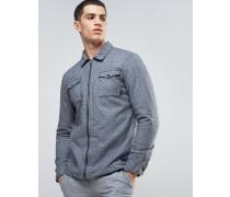 Hemdjacke aus gebürsteter Baumwolle Grau