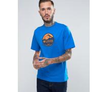 Pioneer T-Shirt mit Logo-Print Blau
