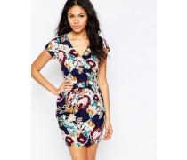 Kleid mit Blumenprint Mehrfarbig