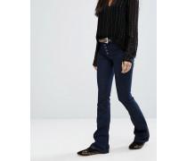 Enge Jeans mit Schlag Blau