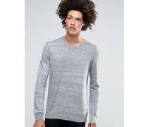 Davin Melange-Pullover mit Rundhalsausschnitt Grau