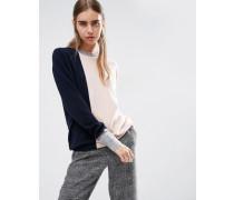 Pullover aus 100% Kaschmir mit Rundhalsausschnitt und Farbblockdesign Mehrfarbig