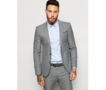 Wedding Sehr enge Anzugjacke in Grau Grau