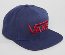 V000YELKZ Blaue Snapback-Kappe mit V-Anhänger Blau