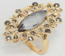 Ring mit Strassbesatz Gold