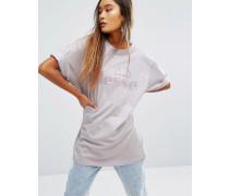 Oversize-T-Shirt mit farblich passendem Logo Violett