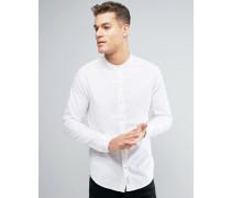 Schmal geschnittenes, weißes Oxford-Hemd in regulärer Passform Weiß