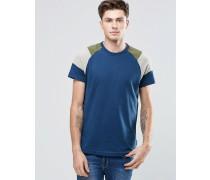 T-Shirts im Bahnendesign mit Rundhalsausschnitt Marineblau