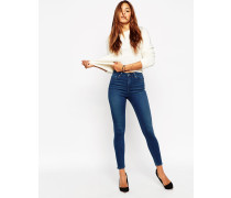 Ridley Knöchellange Skinny-Jeans in Mahagony-Waschung Blau
