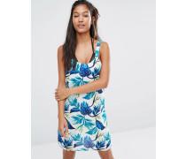Tropisches Strandkleid Mehrfarbig