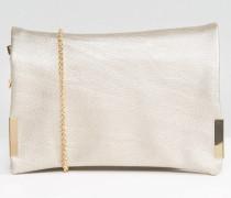 Metallic Cross Body Bag Gold
