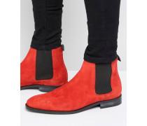 Gerald Chelsea-Stiefel aus Wildleder Rot