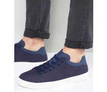 Monaco Flache Sneaker Marineblau