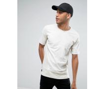T-Shirt aus Wildlederimitat in Übergröße mit großer Tasche Beige