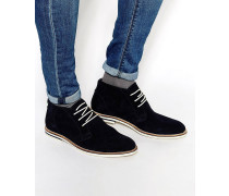 Chukka-Stiefel aus Wildleder, marineblau Blau
