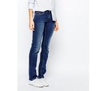 Suzzy Gerade Jeans mit mittelhohem Bund Blau