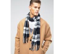 Schwarzer Schal mit Karomuster Schwarz