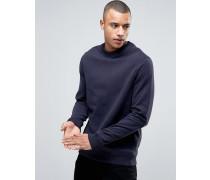 Sweatshirt mit Rundhalsausschnitt Marineblau