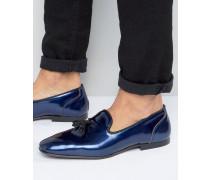 Loafer in Marineblau-Metallic Marineblau
