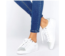 Orchid CLA668 Sneaker in Weiß & Silber, Metallic Weiß