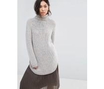 Pullover mit hohem Kragen Grau