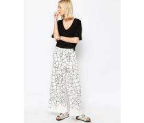 Hose mit weitem Würfelprint Mehrfarbig