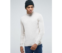 Pullover mit Stehkragen in Beige Beige