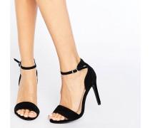 Zarte Sandaletten aus Wildlederimitat Schwarz