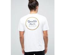 Wheeler T-Shirt mit Logo-Print hinten Weiß