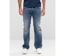 Zatiny Bootcut-Jeans in heller Waschung, 857N Blau