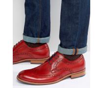 Radcliffe Derby-Schuhe im Budapester-Stil aus Leder Rot