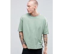 Übergroßes kastenförmiges T-Shirt Grün
