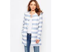 Mantel mit Streifen Weiß