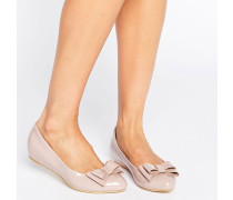 Lack-Ballerinas mit Zierschleife, in Hellrosa Rosa
