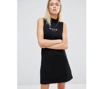 Erin Kleid mit Logo Schwarz