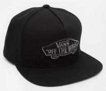 Klassische Snapback-Kappe mit Aufnäher Schwarz