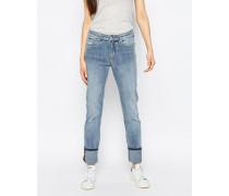 Tuesday Schmale Jeans mit mittelhohem Bund Blau