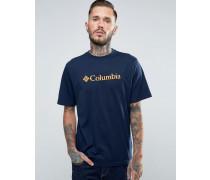 T-Shirt mit Logoprint Marineblau