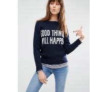 Levi's Good Things Will Happen Pullover mit Schriftzug Blau