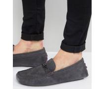 Carlsun Loafer aus grauem Wildleder Grau