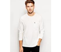 Rosenholz-T-Shirt mit langen Ärmeln Weiß