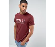 """T-Shirt mit """"Wills""""-Aufschrift, in Pflaume Rot"""