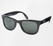 Spicoli Schwarze Falt-Sonnenbrille, VUNK95Q Schwarz