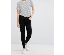 Fernham Sehr enge, gekürzte Skinny-Jeans mit mittelhohem Bund Schwarz