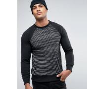 Sweatshirt mit Laufmaschen Schwarz
